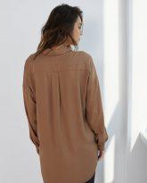 Koszula wiskozową Lisa kamelowa- zdjęcie 3