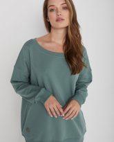 Bluza z dużym dekoltem Sienna zielona