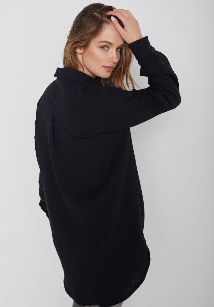 Koszula muślinowa czarna Juliette- zdjęcie 6