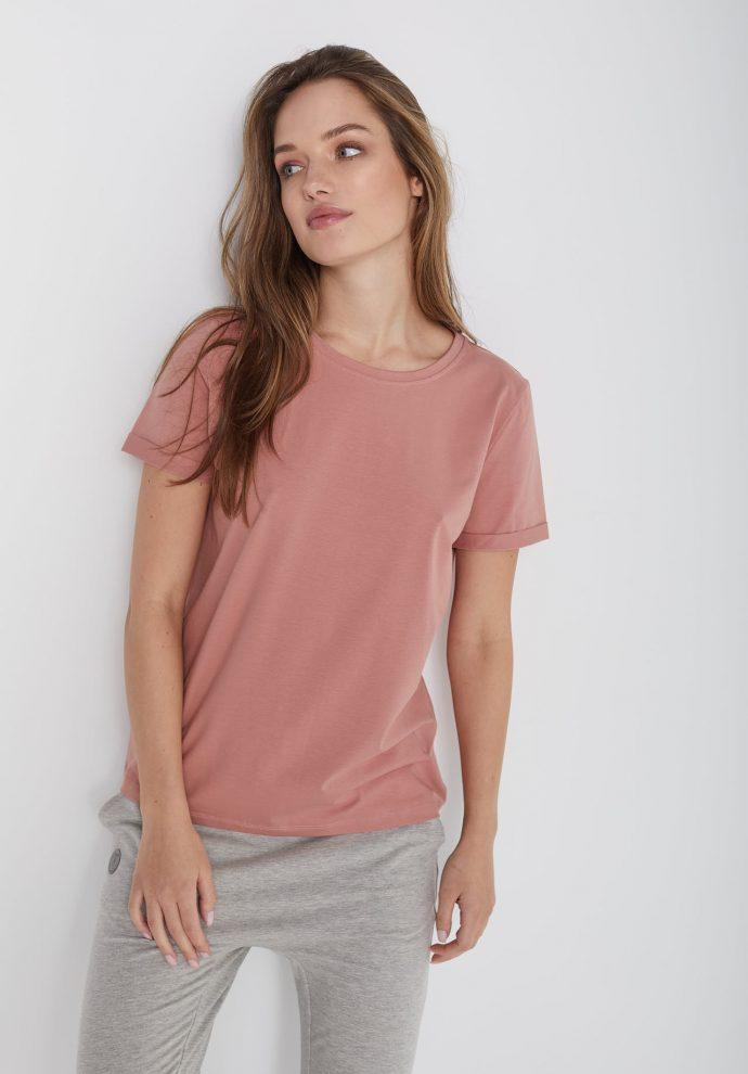 t-shirt z krótkim rękawem Tina zgaszony róz