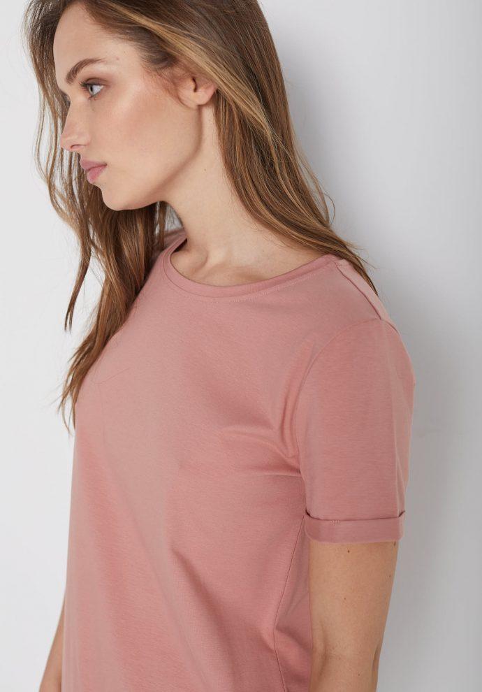 t-shirt z krótkim rękawem Tina zgaszony róz- zdjęcie 2