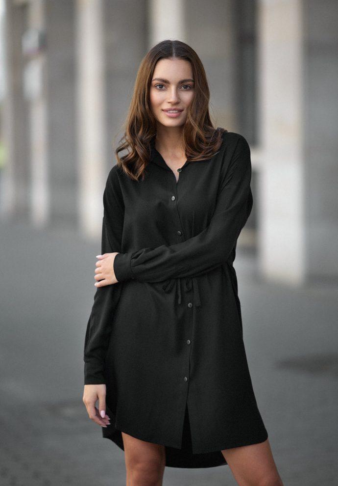 Sukienka na guziki Lisa czarna