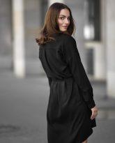 Sukienka na guziki Lisa czarna- zdjęcie 3