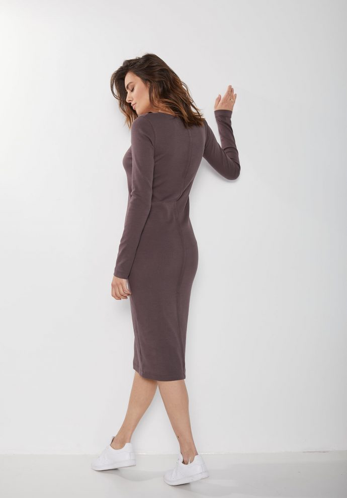 ściągaczowa sukienka sara czekoladowa zdjęcie 3