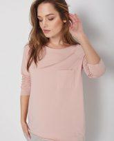 bawełniana bluzka Ramia jasno różowa zdjęcie 2