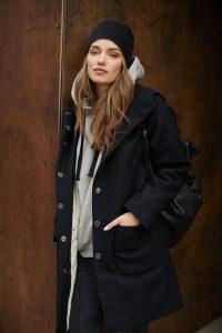 płaszcz z kapturem Millie czarny zdjęcie 8